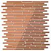 Copper Sparkle Mirror Mosaic Tile Sheet - Julien Macdonald - 300 x 300mm profile small image view 1