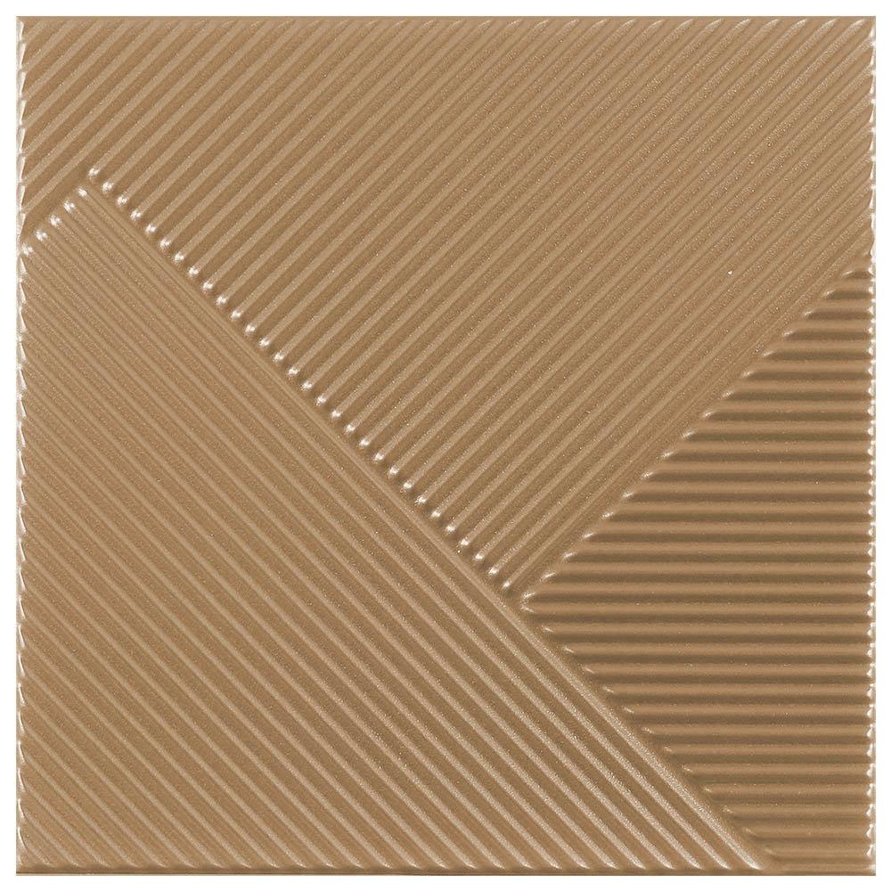 Copper Diagonal Textured Wall Tiles - 250 x 250mm