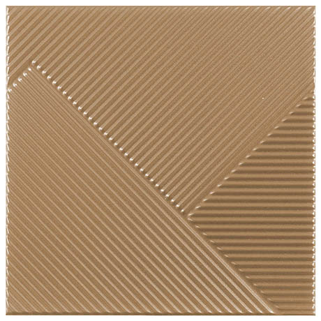 Copper Striped Textured Wall Tiles - Julien Macdonald - 250 x 250mm
