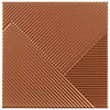 Copper Striped Textured Wall Tiles - Julien Macdonald - 250 x 250mm Small Image