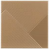 Copper Diagonal Textured Wall Tiles - 250 x 250mm Small Image