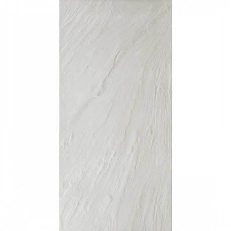 White Slate Effect Wall & Floor Tiles - Julien Macdonald - 600 x 300mm