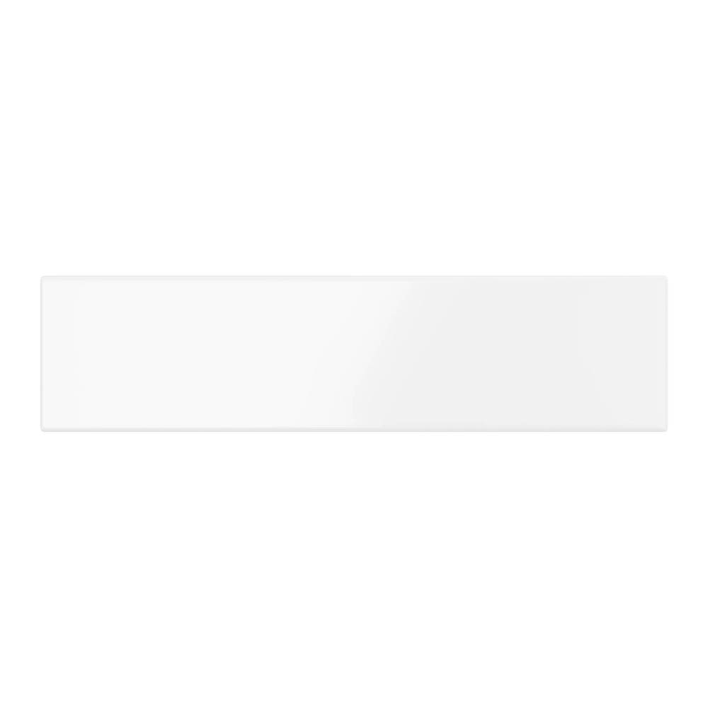 White Chevron Effect Wall Tiles - Julien Macdonald - 300 x 75mm
