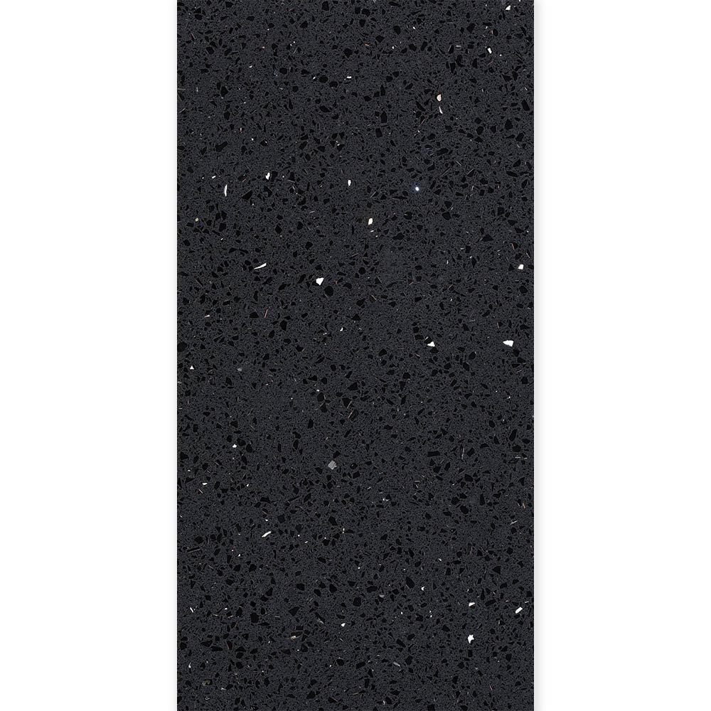 Black Sparkle Quartz Tile - Julien Macdonald - 600 x 300mm