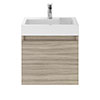 Juno 500 x 360mm Driftwood Wall Hung Vanity Unit profile small image view 1