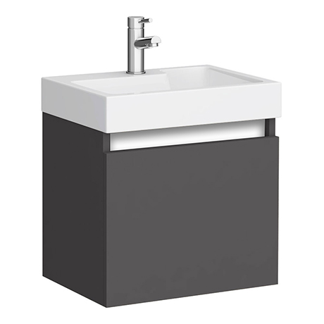Juno 500 x 360mm Gloss Grey Wall Hung Vanity Unit