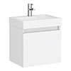 Juno 500 x 360mm Gloss White Wall Hung Vanity Unit profile small image view 1