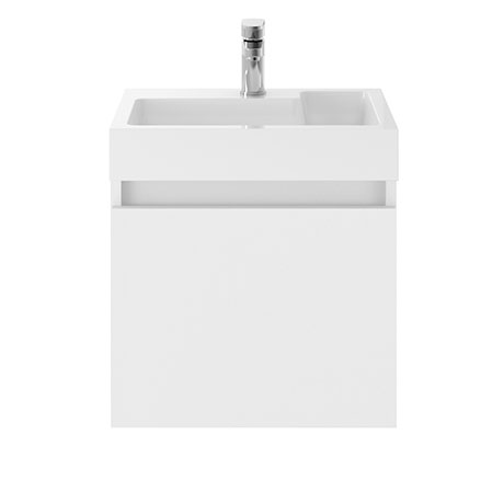 Juno 500 x 360mm Gloss White Wall Hung Vanity Unit