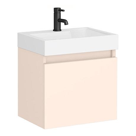 Juno 500 x 360mm Blush Pink Wall Hung Vanity Unit