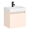 Milan Juno 500 x 360mm Blush Pink Wall Hung Vanity Unit profile small image view 1