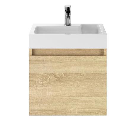 Juno 500 x 360mm Natural Oak Wall Hung Vanity Unit