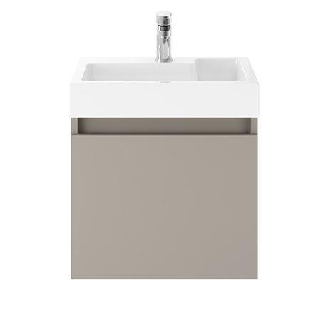 Juno 500 x 360mm Stone Grey Wall Hung Vanity Unit