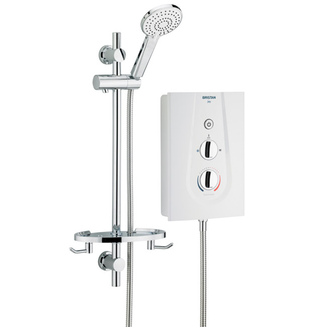 Bristan - Joy ThermoSafe Electric Shower - White profile large image view 1