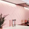 Jasper Metro Pink Flat Wall Tiles - 100 x 300mm Small Image