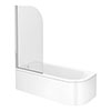 J-Shaped Shower Bath (1700mm with Screen + Curved Panel) profile small image view 1