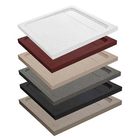 JT Natural - Square Shower Tray - 2 x Size, Various Colour Options