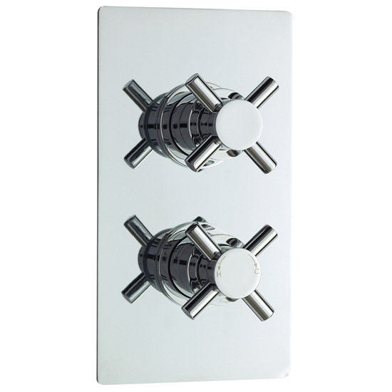 Series 1 Twin Concealed Thermostatic Shower Valve - Chrome - JTY306 Large Image