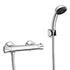 Naples Contemporary Thermostatic Shower Bar Valve + Shower Kit profile small image view 1