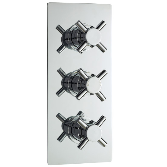 Ultra Series 1 Triple Concealed Thermostatic Shower Valve - Chrome - JTY310 profile large image view 1
