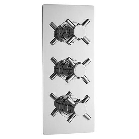 Ultra Series 1 Triple Concealed Thermostatic Shower Valve - Chrome - JTY310