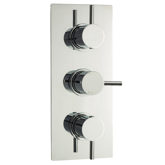 Ultra Quest Triple Concealed Thermostatic Shower Valve - Chrome - JTY314 Large Image
