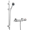 Modern Slide Rail Shower Kit with Thermostatic Bar Valve - Chrome profile small image view 1