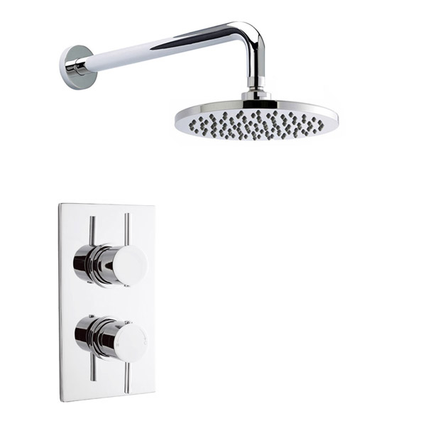 Pioneer - Minimalist Lever Twin Concealed Shower with ABS Trimset & Round Shower Head Large Image