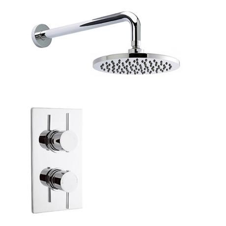 Pioneer - Minimalist Lever Twin Concealed Shower with ABS Trimset & Round Shower Head