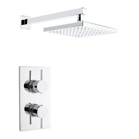 Pioneer - Minimalist Lever Twin Concealed Shower with Brass Trimset & Square Shower Head