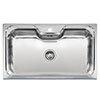 Reginox Jumbo 1.0 Bowl Stainless Steel Inset Kitchen Sink profile small image view 1