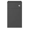 Milan Juno 500 Gloss Grey WC Unit with Cistern (Excludes Pan) profile small image view 1