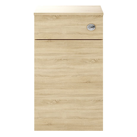 Juno 500 x 253mm Natural Oak WC Unit with Cistern (Excludes Pan)