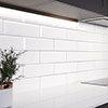 Jasper Metro White Bevelled Wall Tiles - 100 x 300mm Small Image