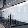 Jasper Metro White Flat Wall Tiles - 100 x 300mm Small Image