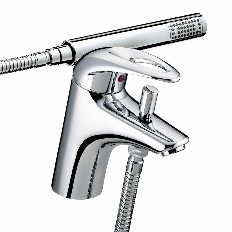 Bristan Java Contemporary 1 Hole Bath Shower Mixer - Chrome - J-1HBSM-C profile large image view 1
