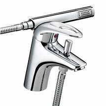 Bristan Java Contemporary 1 Hole Bath Shower Mixer - Chrome - J-1HBSM-C Medium Image