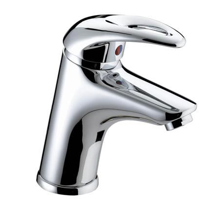 Bristan Java Contemporary Basin Mixer with Eco-Click & Clicker Waste - Chrome - J-EBAS-C