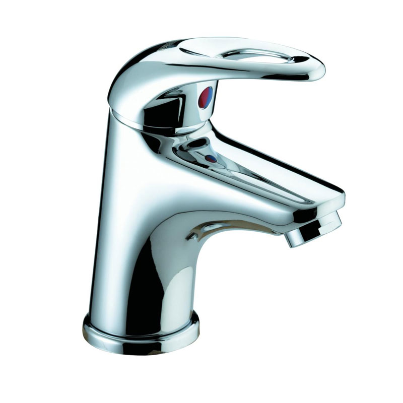 Bristan Java Contemporary Small Basin Mixer with Clicker Waste - Chrome - J-SMBAS-C Large Image