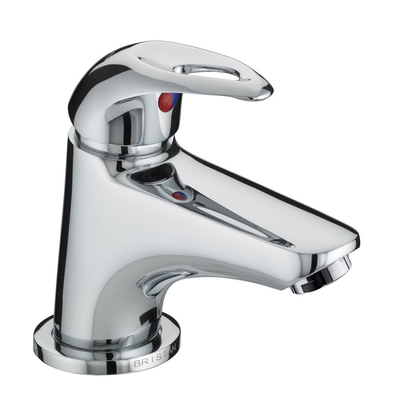 Bristan Java Contemporary Miniature Basin Mixer with Pop-up Waste - Chrome - J-MBAS-C profile large image view 1