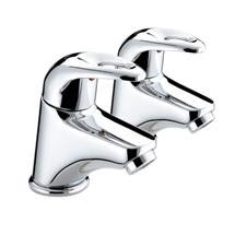 Bristan Java Contemporary Basin Pillar Taps - Chrome - J-1/2-C Medium Image