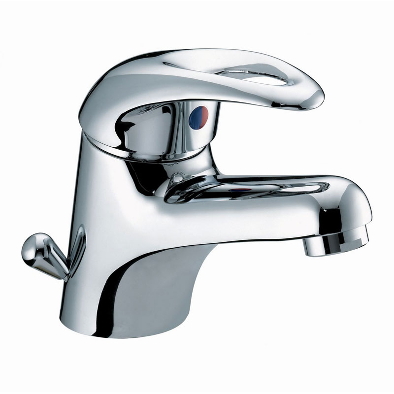 Bristan Java Contemporary Basin Mixer with Side Action Pop-up Waste - Chrome - J-BASSW-C Large Image