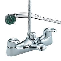 Bristan Java Contemporary Deck Mounted Bath Shower Mixer - Chrome - J-BSM-C Medium Image