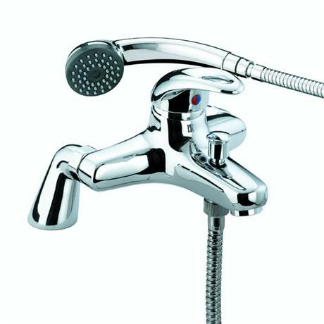 Bristan Java Contemporary Pillar Bath Shower Mixer - Chrome - J-PBSM-C