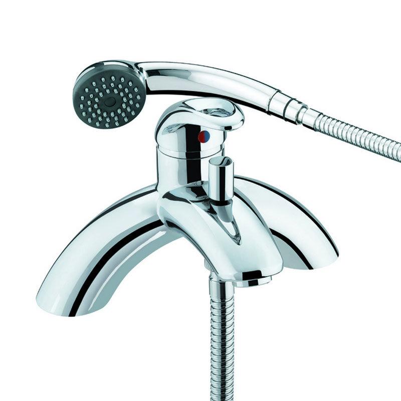 Bristan Java Contemporary Single Lever Bath Shower Mixer - Chrome - J-SLPBSM-C Large Image