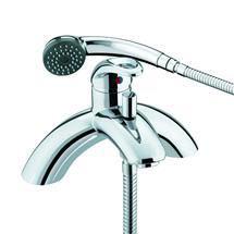 Bristan Java Contemporary Single Lever Bath Shower Mixer - Chrome - J-SLPBSM-C Medium Image