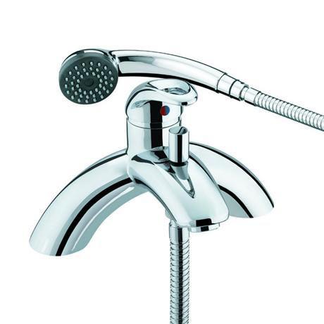 Bristan Java Contemporary Single Lever Bath Shower Mixer - Chrome - J-SLPBSM-C
