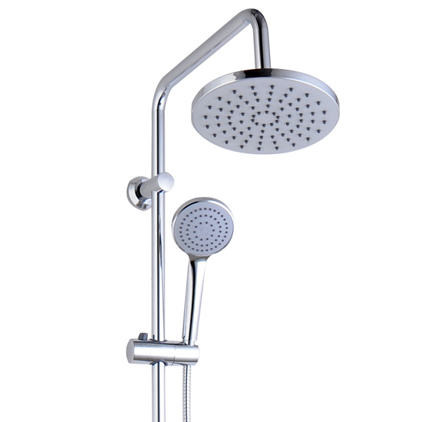 Juno Round Thermostatic Bar Shower Valve + Riser Kit profile large image view 2