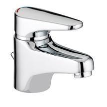 Bristan - Jute Basin Mixer with Eco Click - Chrome - JU-EBAS-C Medium Image