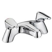 Bristan - Jute Pillar Mounted Bath Filler - Chrome - JU-PBF-C Medium Image