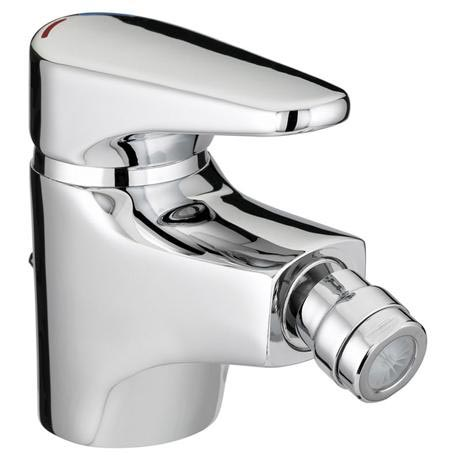 Bristan - Jute Bidet Mixer With Pop Up Waste - Chrome - JU-BID-C